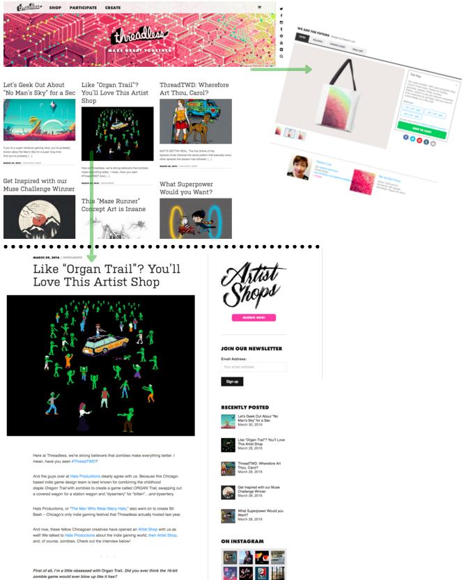 Threadless retail blog