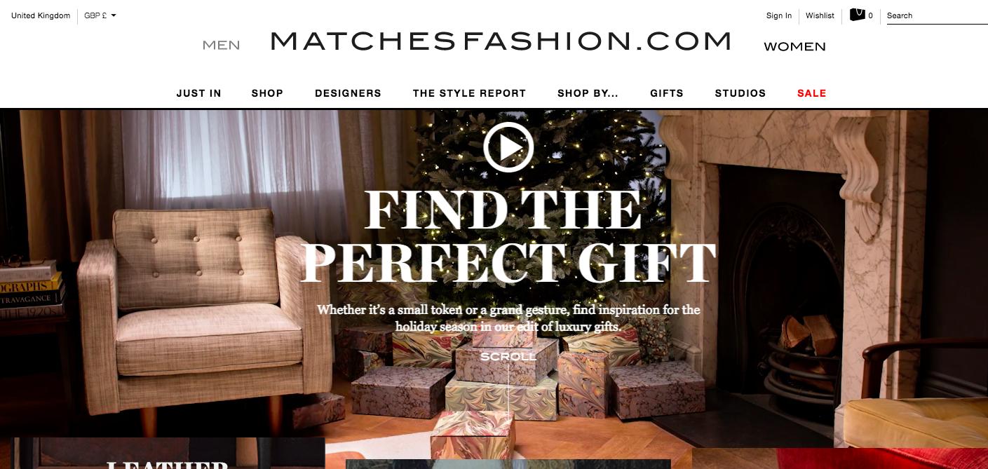 Matches fashion shoppable video