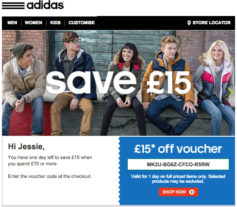 Adidas lasped email