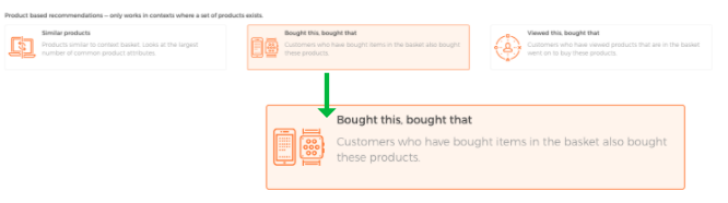 bought this bought that product recommedations engine example