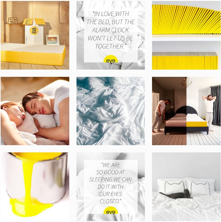 Eve sleep online mattress company Instagram