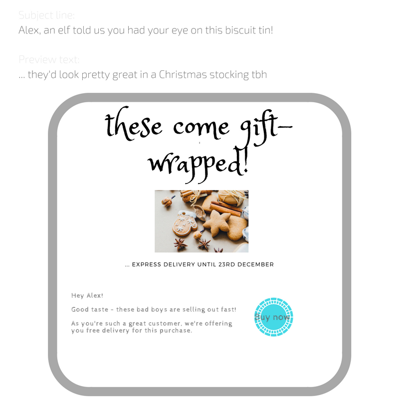 example festive browse abandonment_ December email marketing