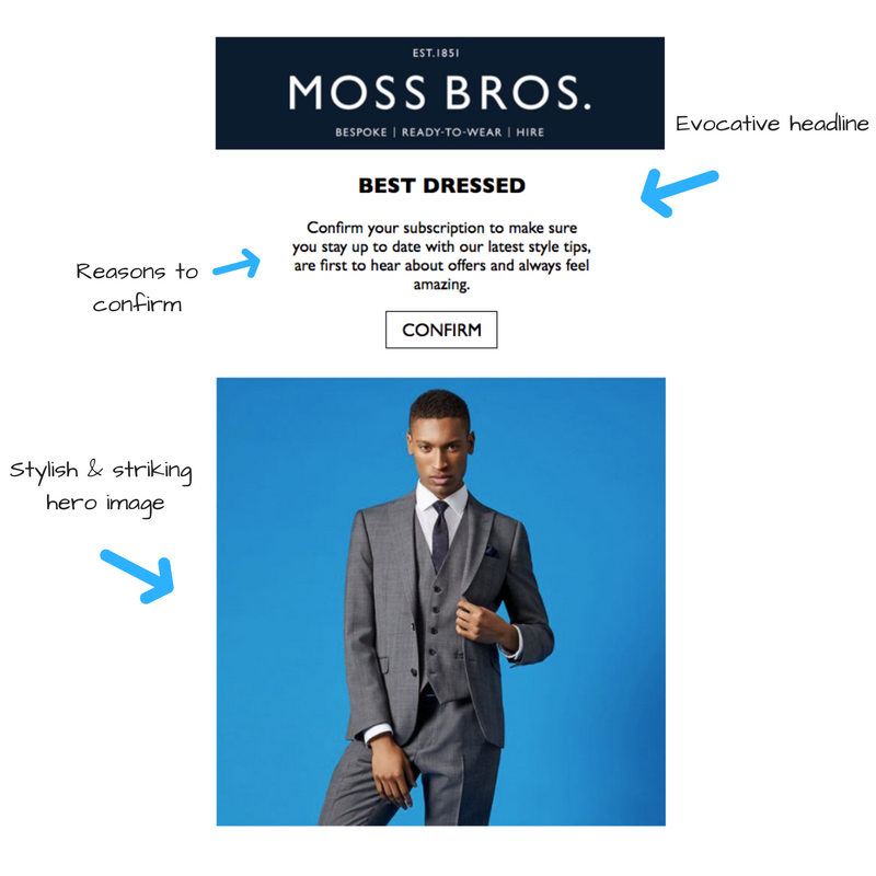 moss bros design email template
