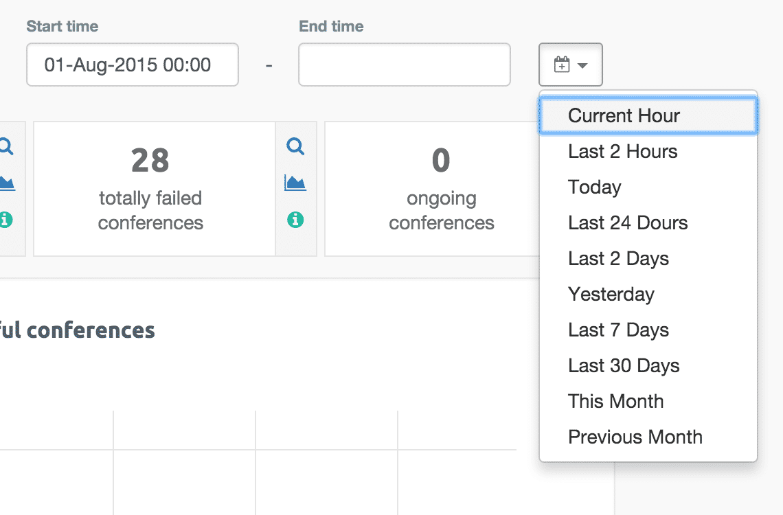 Predefined time filter values