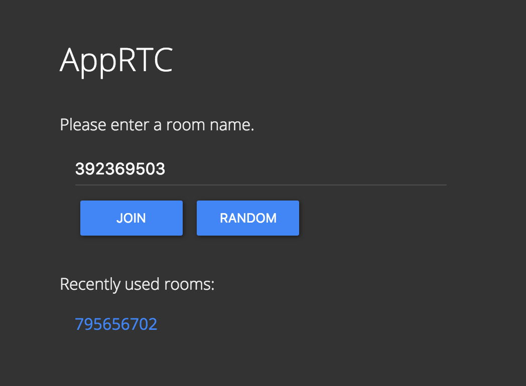 A version of AppRTC running on callstats.io infrastructure