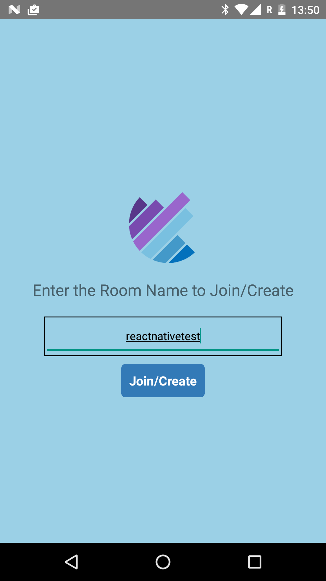 Create room in the callstats.io React Native application.