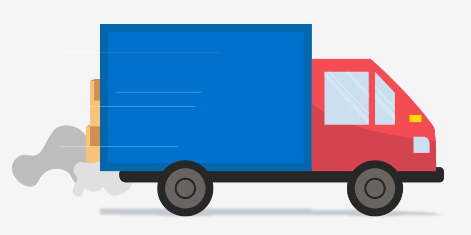 Transportación de productos de inventario.
