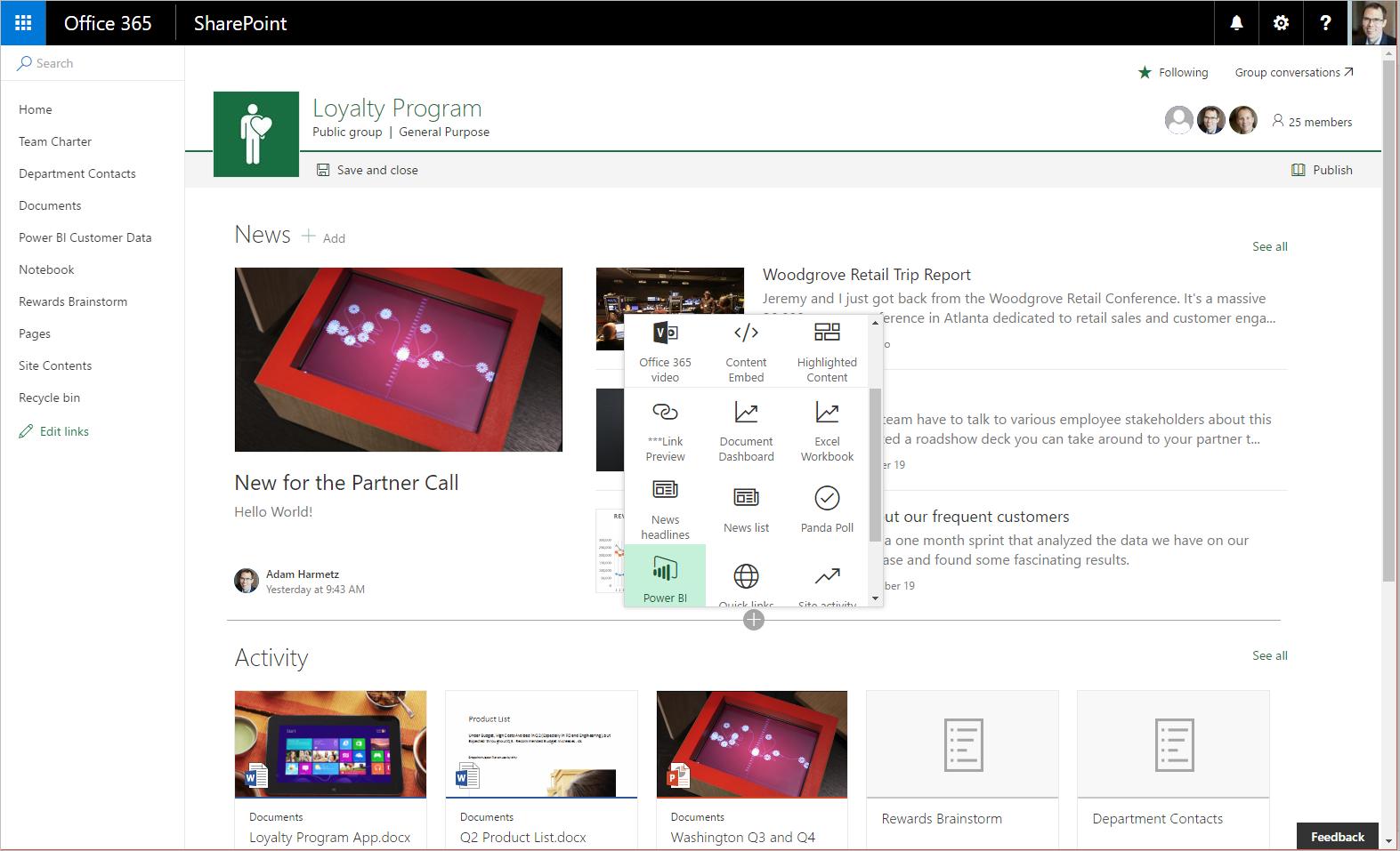 SharePoint Online Modern Teamsites