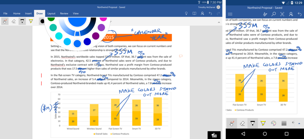 Inkin in Office Apps