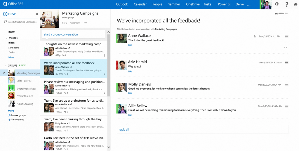 Afbeelding  1: Groups in Outlook Web Access