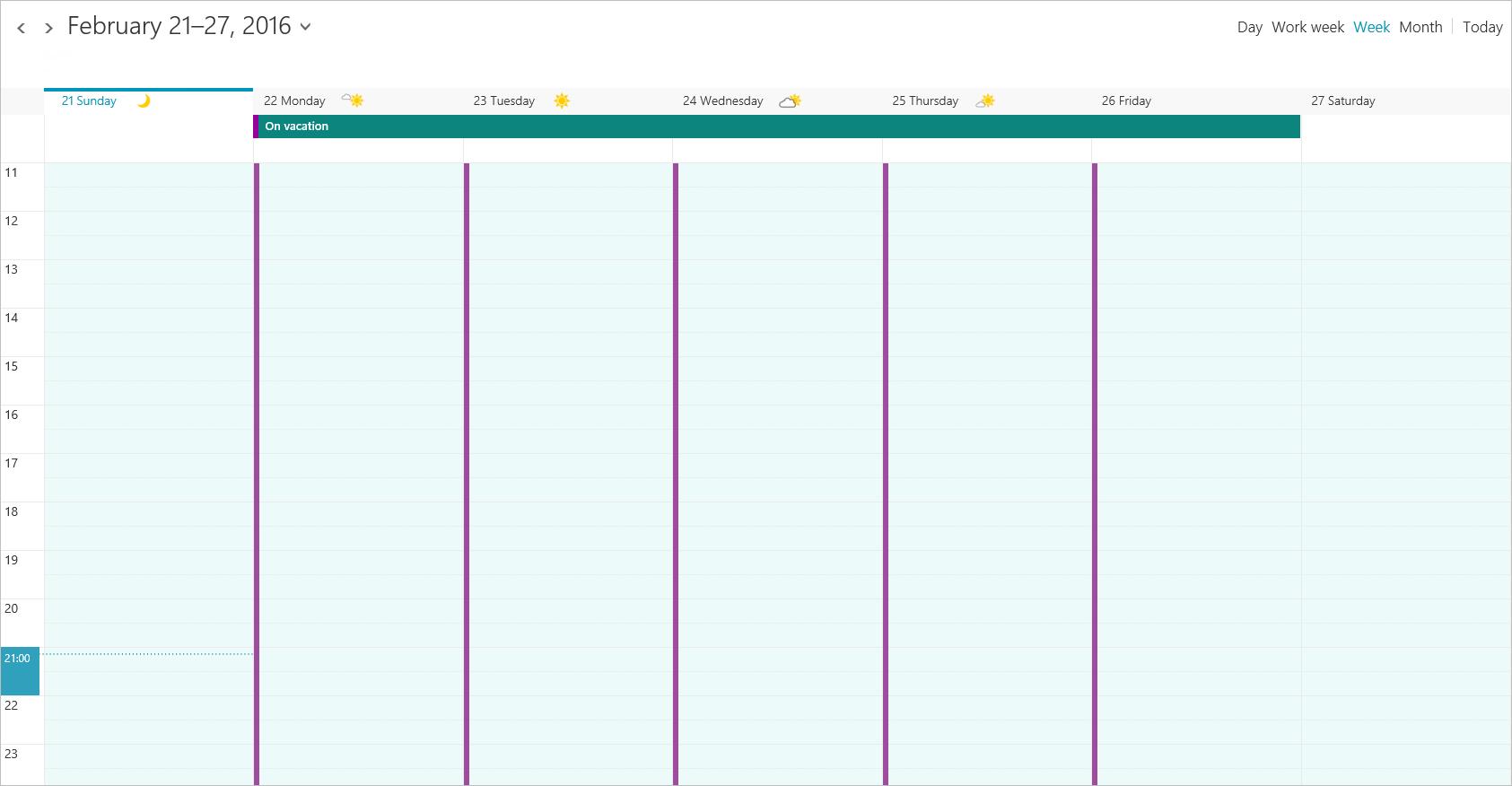Outlook web blokkeert je agenda