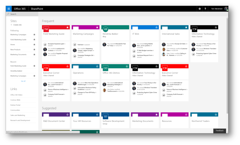 Office 365 roadmap updates juni 2016 wortell for Document library experience