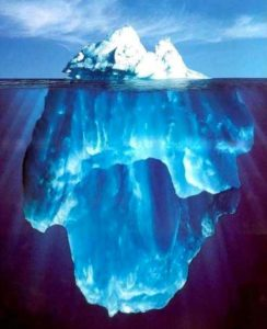 adoptie plaatje van een ijsberg