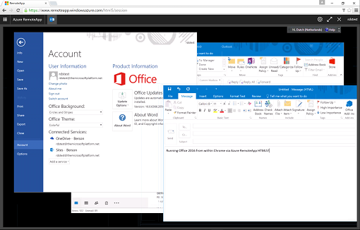 Office 2016 in Azure RemoteApp now officially supported