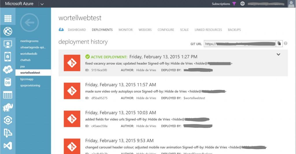GIT Deployment in Azure Websites