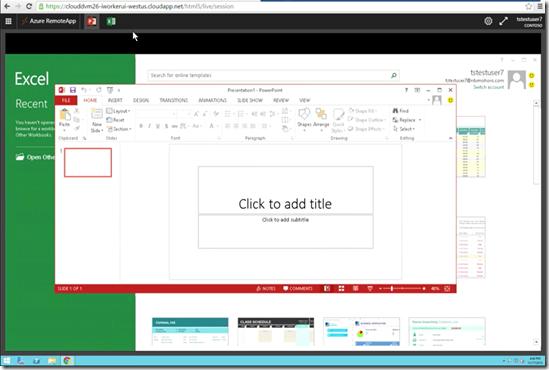 Azure RemoteApp HTML5 client