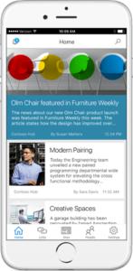 Om SharePoint helemaal geschikt te maken voor mobiel gebruik, is er de SharePoint mobile app
