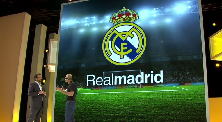 Real Madrid en Microsoft