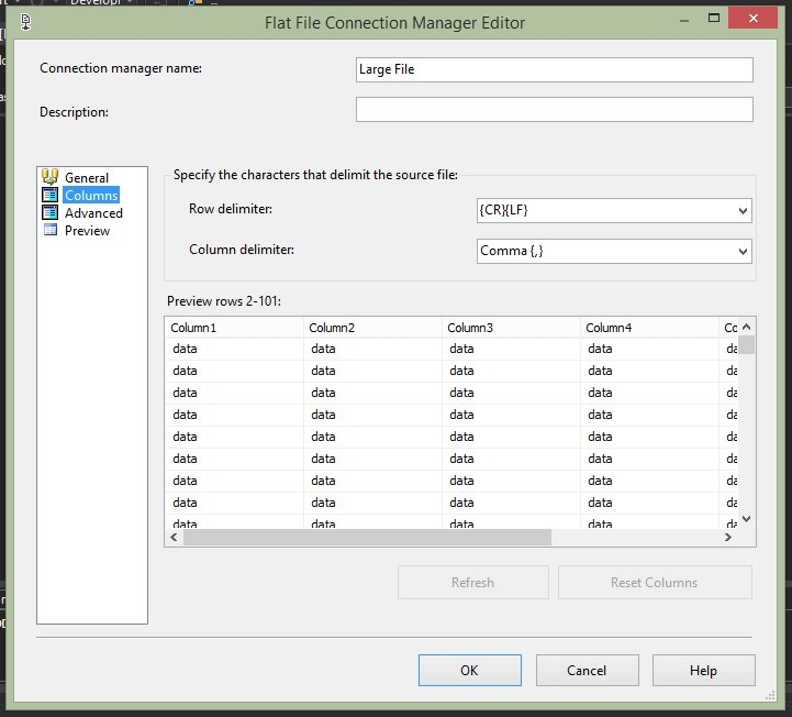 How to Import a Very Large Text File into SQL Server using