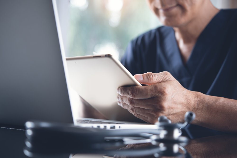 Telemedicine visit with doctor