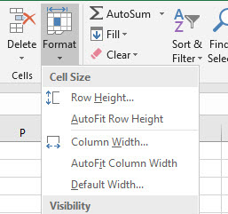 Auto spacing in Excel