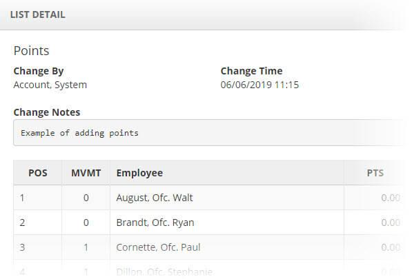 Example overtime employee list