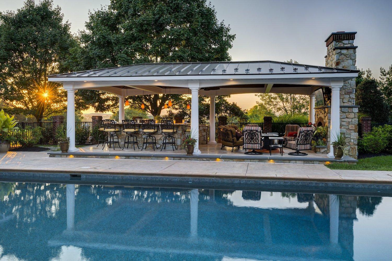 Leola Pa Landscape Design Case Study Poolside Pavilion And