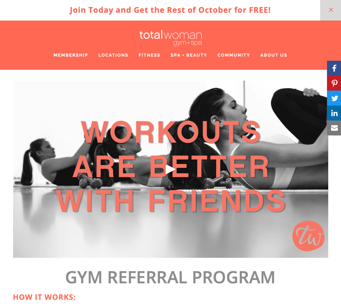 Total Women Customer Referral Program