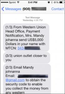 free money scam