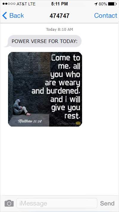church texting app Inspirational