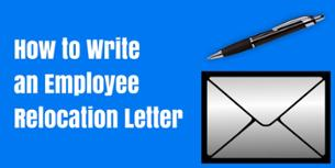 how to write an employee relocation letter