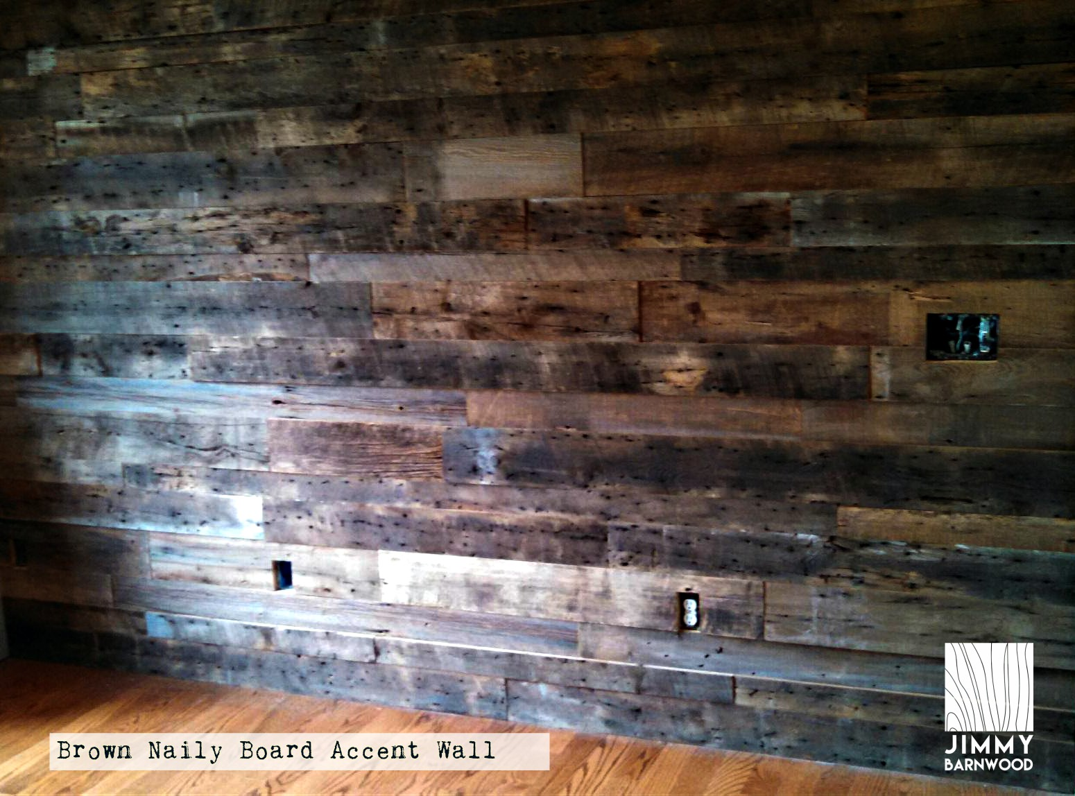 The Story Behind Quot Naily Quot Board Reclaimed Wood Accent Wall