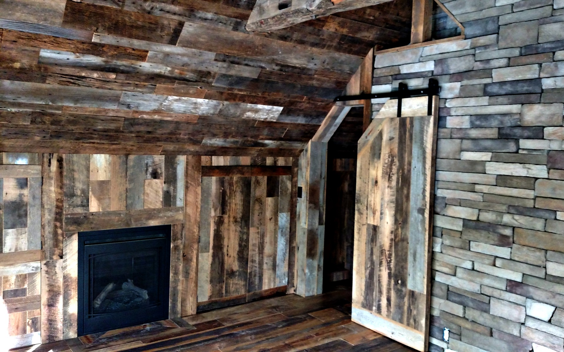 Jimmy Barnwood Reclaimed Wood Accent Wall And Flooring
