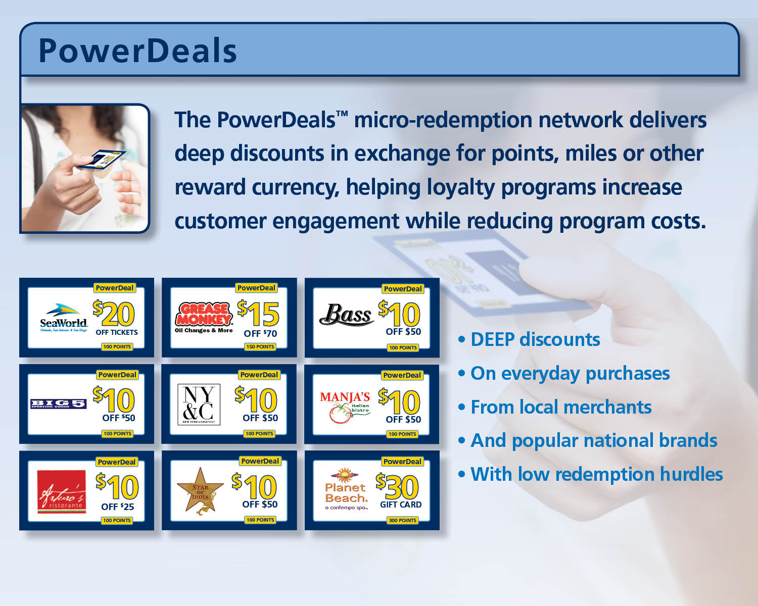 28daa91304 Access private-label customer incentive programs and loyalty incentives  feature exclusive savings from popular restaurants