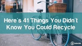 41 things you can recycle