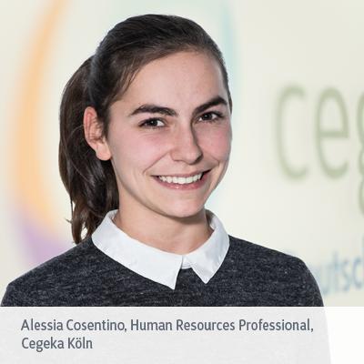 Alessia Cosentino über ihre Arbeit im HR bei Cegeka Köln