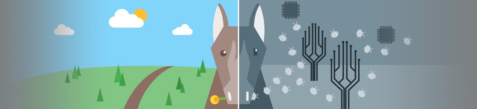 O que é um cavalo de Troia? É um malware ou um vírus?