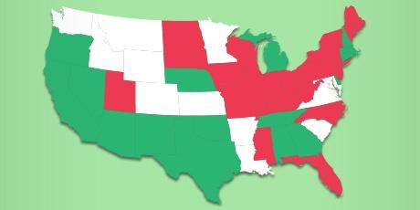 Veiligste en gevaarlijkste Amerikaanse staten voor pc's