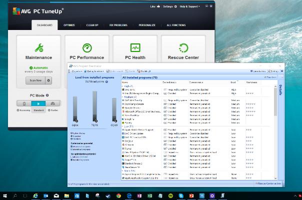 Captura de tela da janela Todos os programas instalados