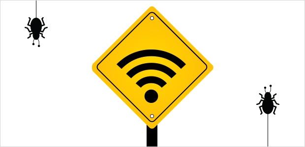 Aviso! WiFi pública em frente!