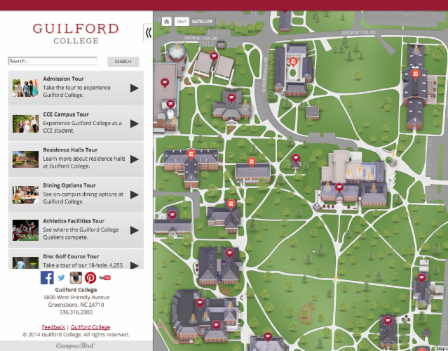 Greensboro College Campus Map.Don T Waste A First Impression On Static Maps Or Dated Video Tours