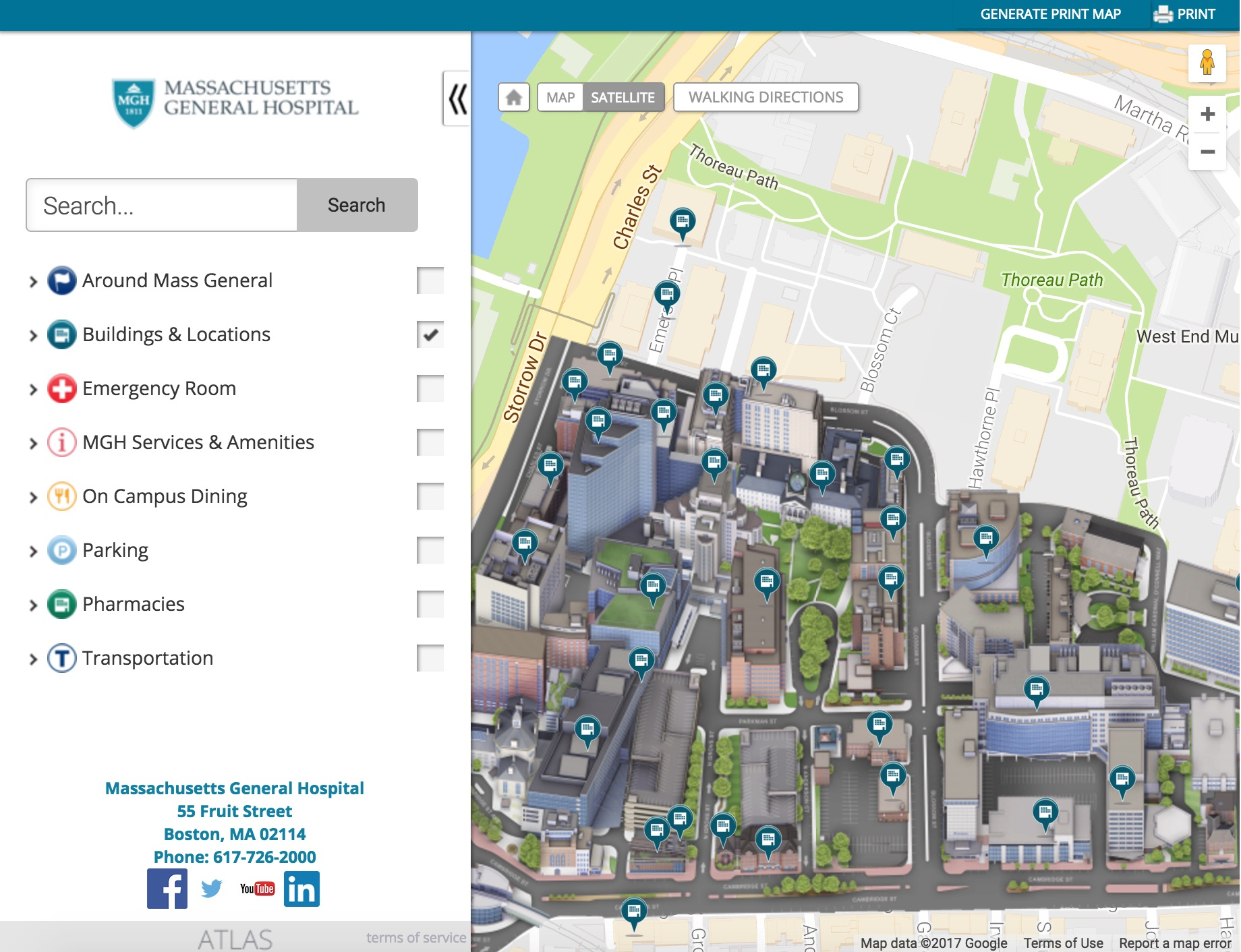 Mass General Hospital Launches AtlasDPowered Interactive Campus Map - Map mass