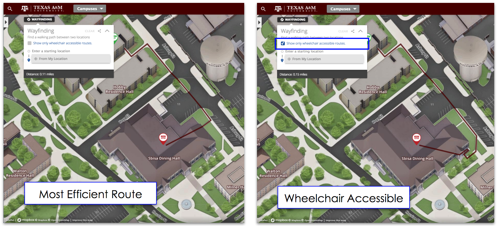 Wayfinding :: Wheelchair Accessible Routes