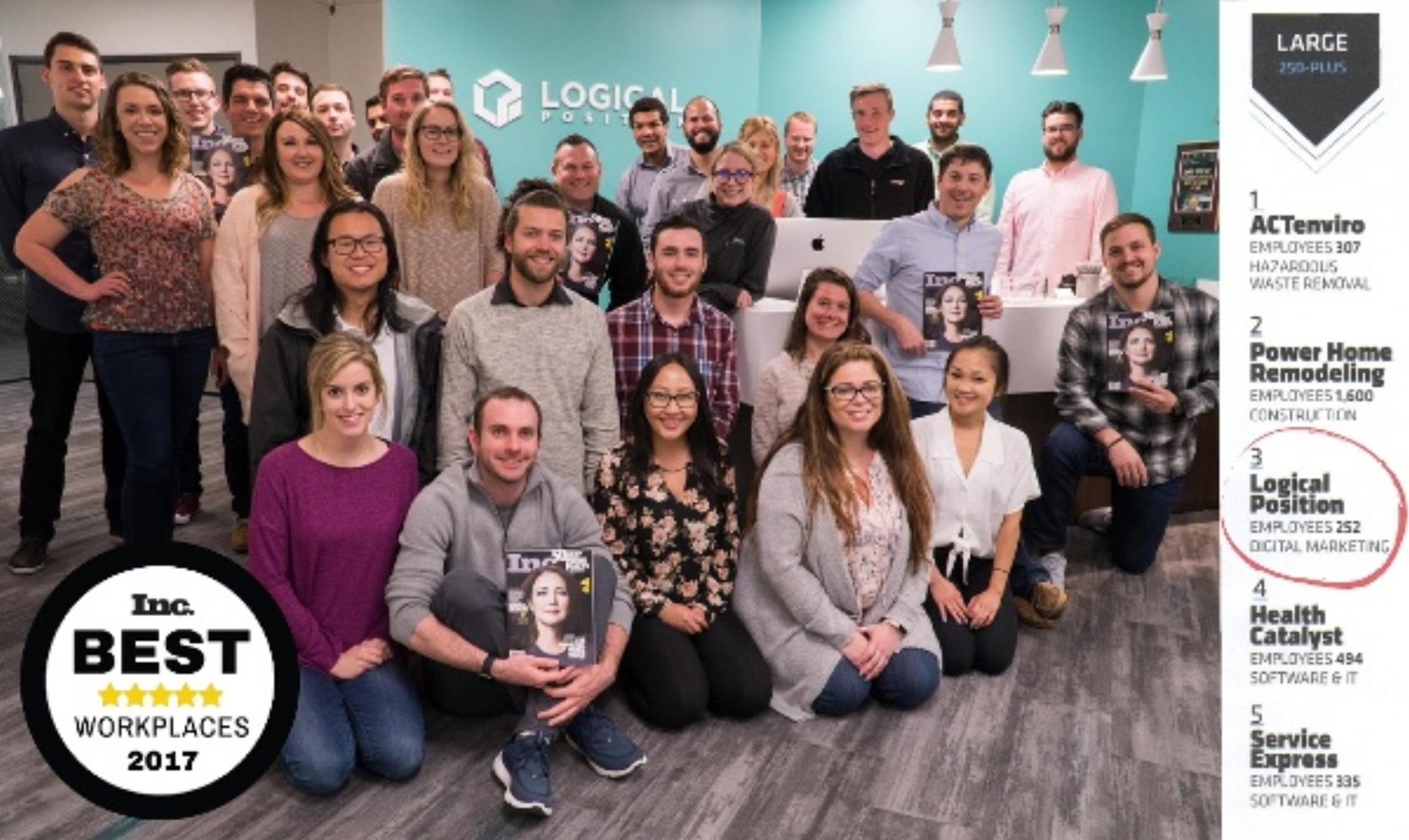 Logical Position 3rd Best Large Workplace in America [Inc. Magazine]