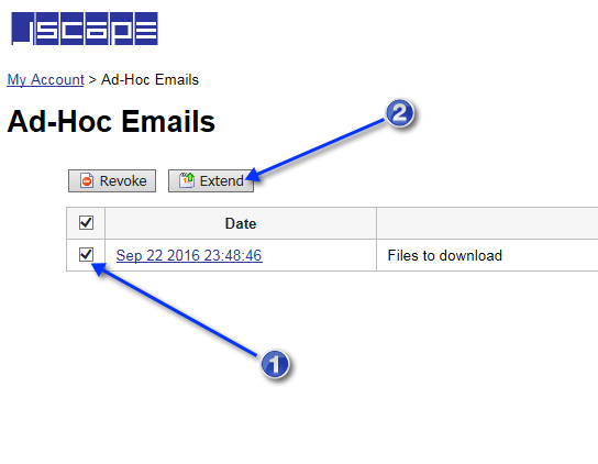 extend ad hoc emails