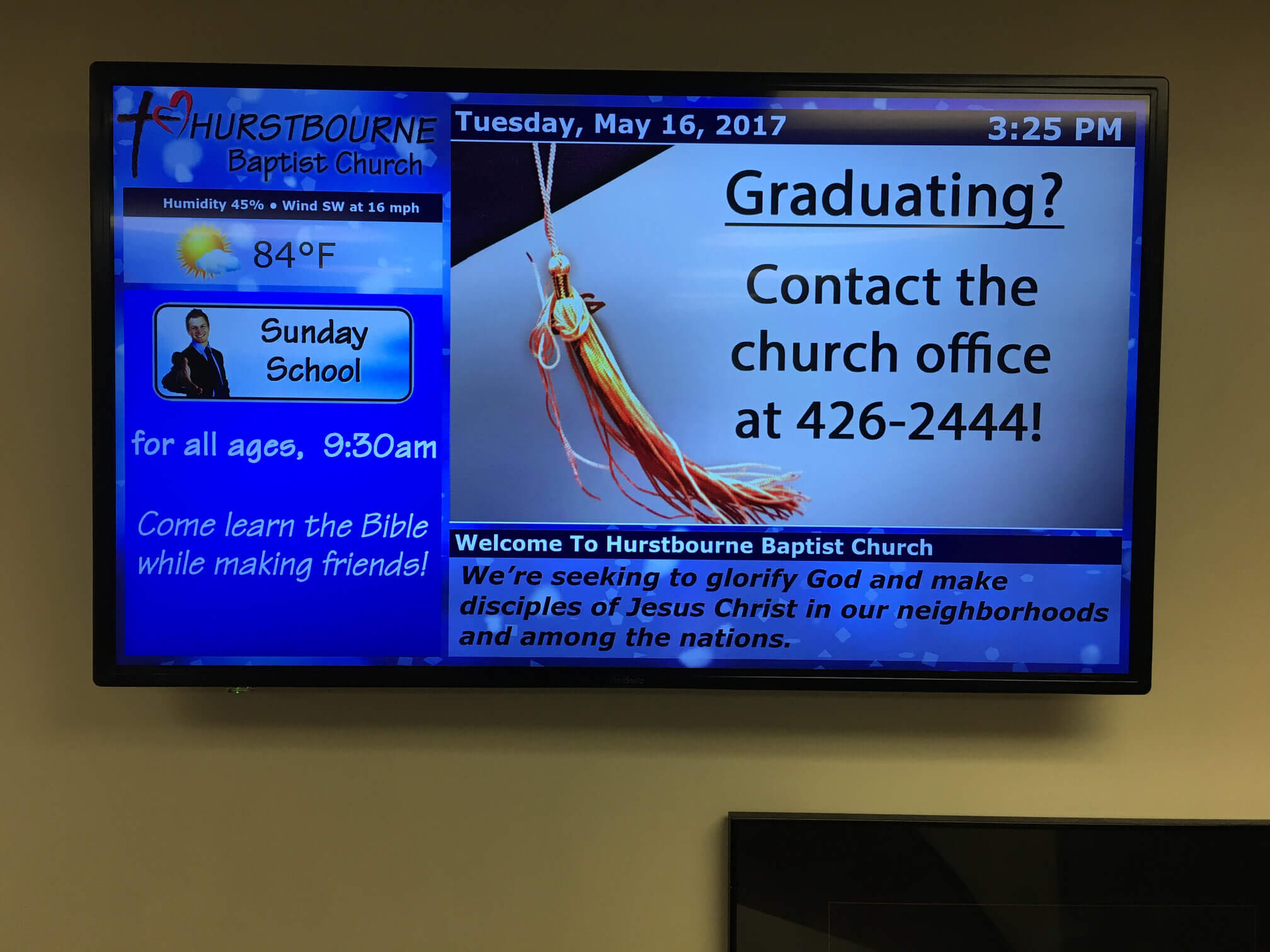 Digital Signage For Churches And Religious Venues