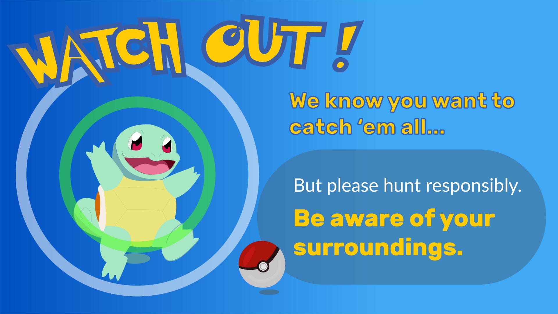 free digital signage templates pokémon go