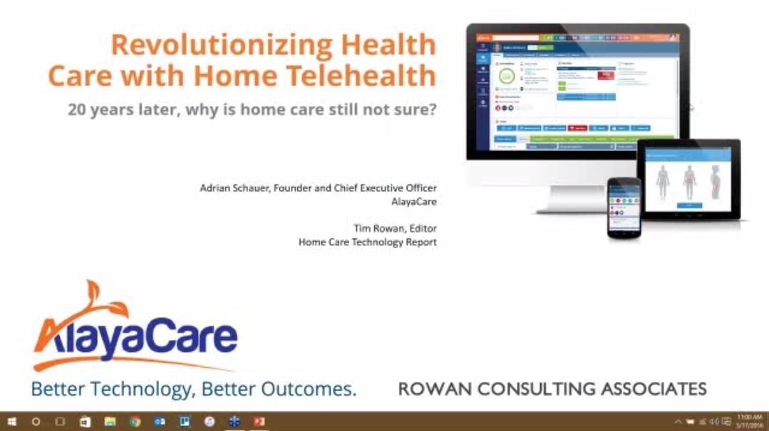 Webinar - Revolutionizing Health Care with Home Telehealth