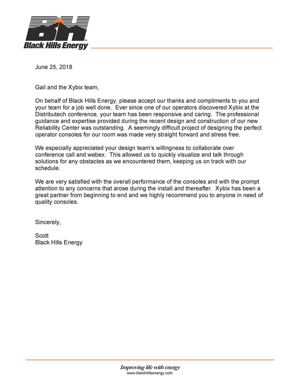 Black Hills Energy - Horizon Point | Xybix, Inc  | Energy Console
