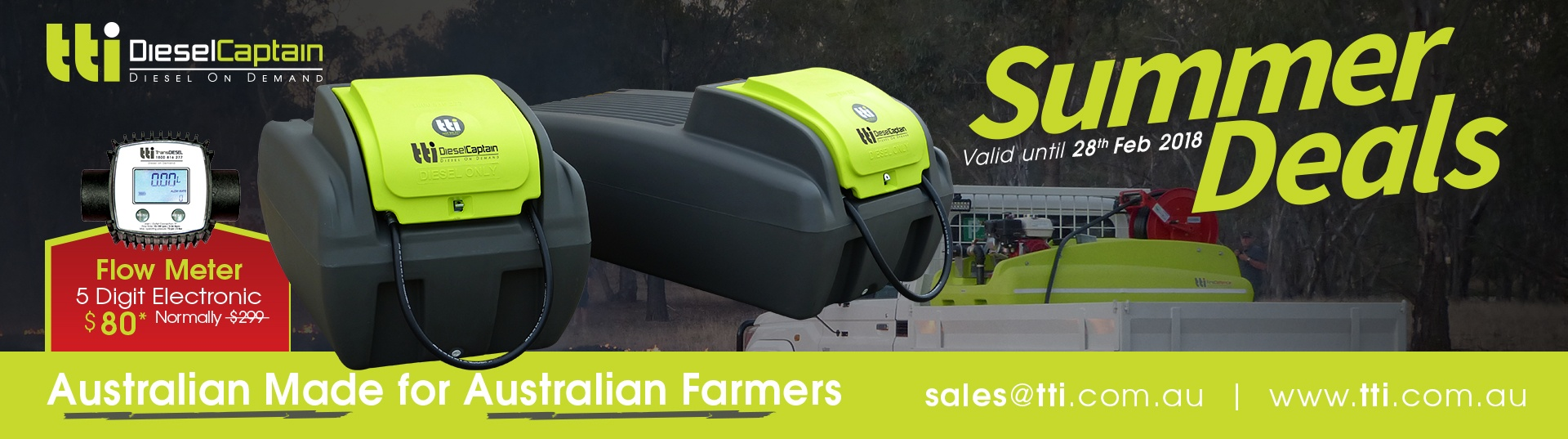 tti sales catalogue fire fighting equipment tank tanks trailers australia summer deals 2017 2018